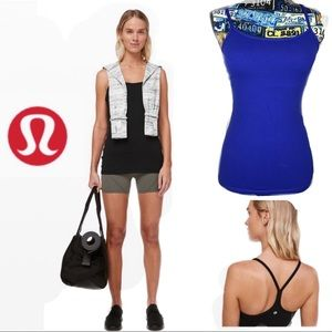 Lululemon Blue Tank Top Power Y Yoga Racerback Sz4